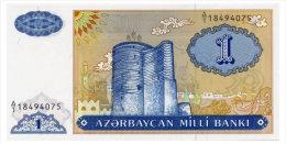 AZERBAIJAN 1 MANAT ND(1993) Pick 14 Unc - Azerbaïjan