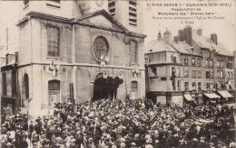 """FLOING SEDAN -  Inauguration Du Monument Des """"Braves Gens """" -sortie De La Cérémonie à L'église Saint CHarles à Sedan - Sedan"""