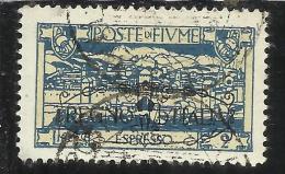 FIUME 1924 REGNO D´ITALIA ESPRESSO LIRE 2 TIMBRATO USED - 8. WW I Occupation
