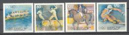 BL3-190 GERMANY 1992 MI 1592-1595 SPORT, ESCRIME, FENCING, ALPINE SKIING, ROWING, AVIRON. MNH, POSTFRIS, NEUF**. - Schermen