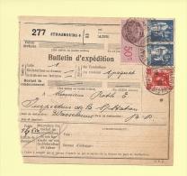 Bulletin D´expedition - Type Paix Et Exposition Internationale - Strasbourg 1936 - Poststempel (Briefe)