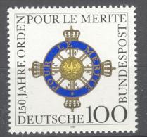 BL3-198 GERMANY 1992 MI 1613 POUR LE MERITE, WAPPEN, ARMOIRE, COTE OF ARMS. MNH, POSTFRIS, NEUF**. - Briefmarken
