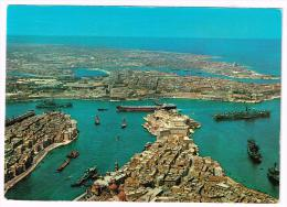 M659 Malta - The Grand Harbour - Navi Ships Bateaux - Aircraft Carrier Portaerei Porte Avions / Viaggiata 1976 - Malta