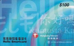 Hong Kong, Hon:HK-SC 01.05a, Hello Smartcard $100 Blue (PDAB), 2 Scans. - Hong Kong