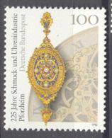 BL3-203 GERMANY 1992 MI 1628 UHRENINDUSTRIE, CLOCK INDUSTRY, KLOKKEN, PENDULES. MNH, POSTFRIS, NEUF**. - Horloges