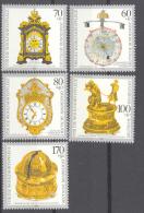 BL3-204 GERMANY 1992 MI 1631-1635 UHRENINDUSTRIE, CLOCK INDUSTRY, KLOKKEN, PENDULES. MNH, POSTFRIS, NEUF**. - Horloges