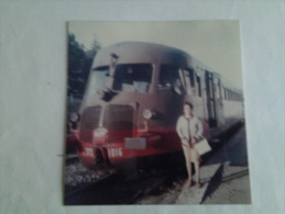 STAZIONE DI VOLTERRA -PISA- FOTO CON LITTORINA ALN772 - Treni
