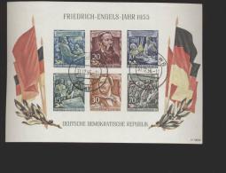 DDR Gestempelt  Block 13 Friedrich Engels  Katalog 180,00 - DDR