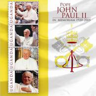 MINT NEVER HINGED MINI SHEET OF POPE JOHN PAUL II   # 449  ( UGANDA   1002 - Christendom