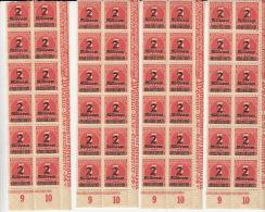 Nr 312 *Bänder Aus 12 Bfm Mit Drei  Mal Zwei Abarten 1923. Auf Den 90sten Und 80sten Bfm - Unused Stamps
