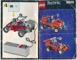 Brochure (1991) Mode D'emploi LEGO TECHNIC 8820, 20 Pages (13 Cm Sur 21 Cm) - Lego Technic