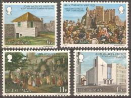 ISLE OF MAN - MNH ** 1977 Visit Of John Wesley. Scott 105-8 - Isola Di Man
