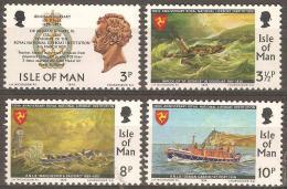 ISLE OF MAN - MNH ** 1974 Lifeboat Institute - Shipwrecks. Scott 36-9 - Isola Di Man