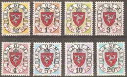 "ISLE OF MAN - MNH ** 1973 Postage Dues. Scott J1a-J8a. Imprint ""1973 A Qwesta"" - Isla De Man"