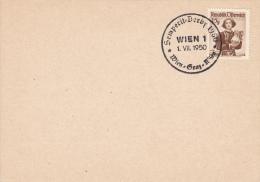 CYCLISME-RADSPORT-CICLISM O-CYCLING, Special Postmark 1950, Austria/Vienna - Ciclismo