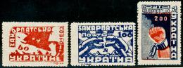 CARPATHO-UKRAINE - 1945 - Mi 78A-80A - UKRAINIAN OCCUPATION - MAY 1th IN FREEDOM - MNH ** - Carpatho-Ukraine