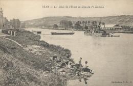 Sens     89    Les Bords De L\'Yonne Au Quai Du  Petit Hameau  CPA  écrite   TB - Sens