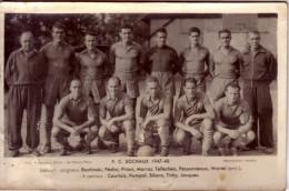 SOCHAUX 1947-48 -  FOOT - FC SOCHAUX - L´EQUIPE AU COMPLET -CARTE PHOTO. - Soccer
