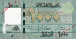 Lebanon, New Banknotes 1.000 LL SPECIMEN,not Valid For Circulation,without Serial Number,UNC,only 100 Exist Rare-2 Scans - Lebanon