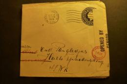 ( X Scans)  LETTRE DES ETATS UNIS SAN FRANCISCO POUR   INDES NEERLANDAISES (non Certain à Confirmer)  Censor 1919 - Lettres & Documents