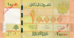 Lebanon Issue 2013 - 10.000 LL UNC SPECIMEN,without Serial Number Overprtinted Not Valid For Circ.2 Scans- Rare Only 100 - Lebanon
