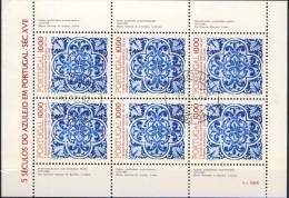 ##Portugal 1982. Azulejos. Sheetlet. Michel 1582. Cancelled(o) - Blocs-feuillets