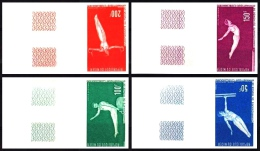 Niger: 'Turnen, 1970' / 'Gymnastics', Mi. 263-266 U; Yv. PA 137-140 ND; Sc. C137-140 ** - Gymnastiek