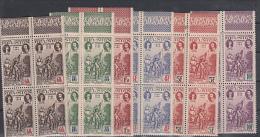 COLONIE FRANCAISE/REUNION - 1943 - N°18/23**PA EN BLOC DE 4 BORD DE FEUILLE + 1943 N°180/185** - Reunion Island (1852-1975)