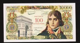 Surchargé 100 NF/10000 Francs Bonaparte, 30.10.1958, Fayette 55.1 - 1955-1959 Surchargés En Nouveaux Francs