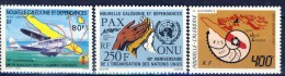 ##New Caledonia 1985. 3 Items. MH(*) Hinged. - Nuevos