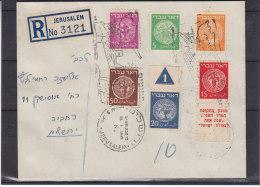 Israël - Lettre Recommandée De 1949 - Timbre Avec Numéro De Planche - Oblitération Spéciale Bateaux - Chypre - Brieven En Documenten