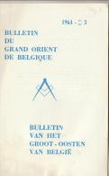 Franc Maçonnerie Maçon Maçonnique Bulletin Grand Orient De Belgique In Memoriam Rongvaux ... - Sin Clasificación