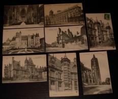 Lot De 8 CPA  De  La Ville De BOURGES (Cher) - Cartes Postales
