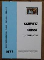 Pierre Bersier éditeur Catalogue Schweiz Suisse Liechtenstein édition Originale 1977 - Suiza