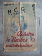 Vieille Affiche Timbre Antituberculeux Vers 1950 Wilquin Santé Publique Vignette - Afiches