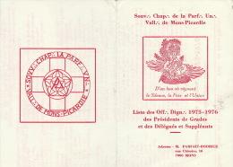 Franc Maçonnerie Maçon Maçonnique Courrier Parfaite Union Mons Liste En 3 Volets - Documents Historiques