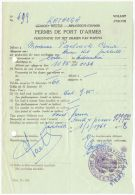 09109 KATANGA Jadotville Permis Port D´armes Pour Fusil 01/01/1961 - Historical Documents