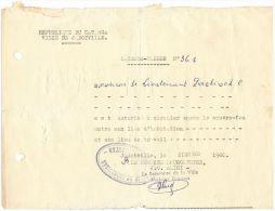 09111 KATANGA Jadotville 27/10/1960, Laisser Passer Après Le Couvre Feu - GF - Historical Documents