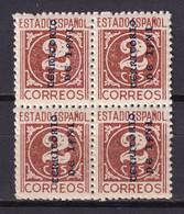 IFNI 1941. CIFRA VARIEDAD SOBRECARGA VERTICAL 2 Ct**. BLOCX4. ESCASO - Ifni