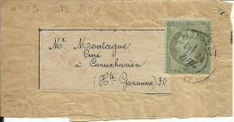 N°19  Sur Bande Obl.Toulouse Pour Le Curé De CORNEBARIEU(30) - 1862 Napoléon III