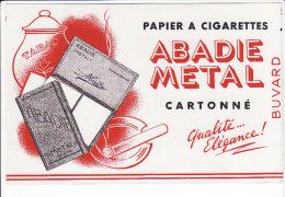 """Buvard Papier à Cigarettes """"abadie Métal"""" Cartonné (tabac) - Tobacco"""
