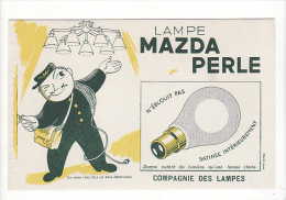 "buvard ""mazda lampe"" : (�lectricien,�lectricit � ,facteur)"