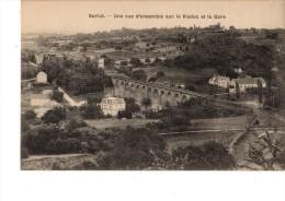C P A----24------SARLAT-----une Vue D'ensemble Sur Le Viaduc Et La Gare--voir 2 Scans - Sarlat La Caneda