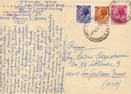 1976 Italy Italie Italia Intero Sir £55+15+30 Annullo Marina CARRARA Entier Stationery - 1946-.. République