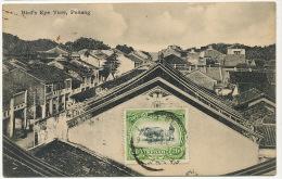 Penang  Bird's Eye View P. Used Alor Star With Kedah Stamp - Malasia