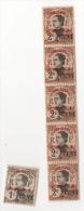 Fra488 Yunnanfou Colonie Indocine Indocina Annamite Soprastampa Rossa N.51, 1cent 2/5, 2 Cents X 6 4/5, Unused Nuovo - Yunnanfu (1903-1922)