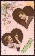 CP - Coeurs, Amour - Bon Anniversaire - Vers 1940. - Couples