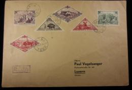 15513 GF Touva, Timbres Triangles Et Losanges, Vers Luzern, R. Kizil, 16/03/1937 - Touva
