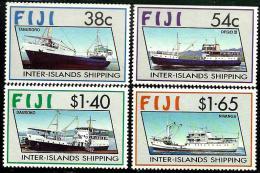 FIJI ISLANDS INTER-ISLANDS SHIPPING SHIP SHIPS  SET OF 4 1980's(?)  MINT  SG847-50 READ DESCRIPTION !! - Fidji (1970-...)