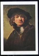 L641 Rembrandt: Autoritratto Giovanile - Self Portrat, Portrait, Bildnis - Firenze, Uffizi - Ed. Casa Red. NIguardia - Paintings